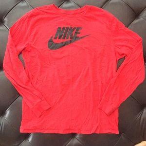 The Nike Tee Long Sleeve Red XL